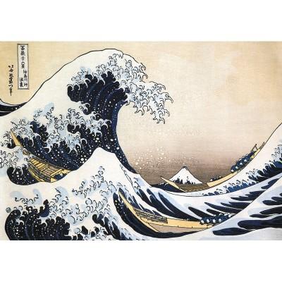 Puzzle-Michele-Wilson-K448-24 Puzzle aus handgefertigten Holzteilen - Hokusai - Die große Welle