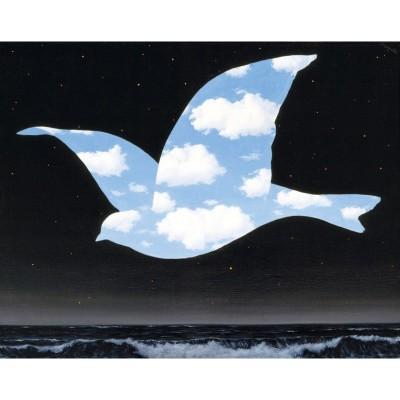 Puzzle-Michele-Wilson-K555-24 Puzzle aus handgefertigten Holzteilen - Magritte - Vogel im Himmel
