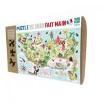 Puzzle-Michele-Wilson-K591-50 Puzzle aus handgefertigten Holzteilen - Schatzinsel
