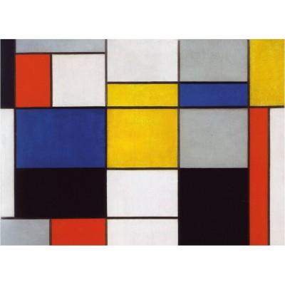 Puzzle-Michele-Wilson-K629-24 Puzzle aus handgefertigten Holzteilen - Mondrian - Composition 123
