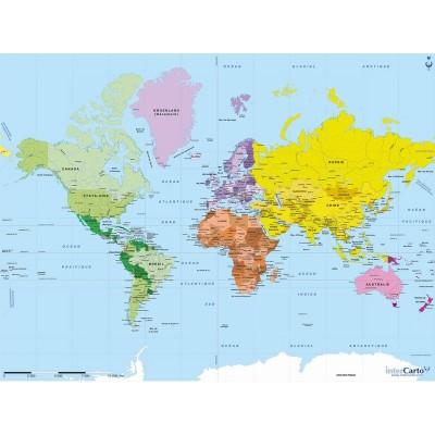 Puzzle-Michele-Wilson-K75-50 Puzzle aus handgefertigten Holzteilen - Weltkarte