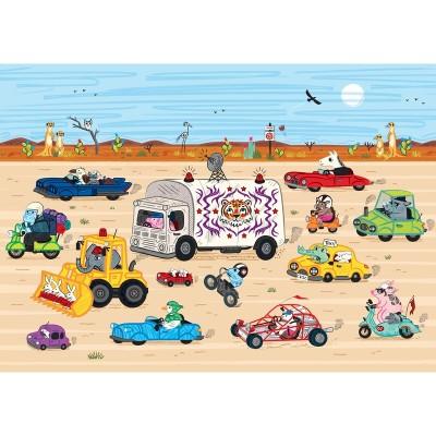 Puzzle-Michele-Wilson-K770-24 Puzzle aus handgefertigten Holzteilen - Rennen in der Wüste
