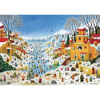 Puzzle-Michele-Wilson-K774-100 Puzzle aus handgefertigten Holzteilen - Thomas - Winterszene