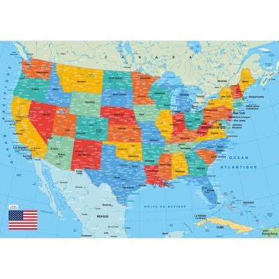 Puzzle-Michele-Wilson-K84-50 Puzzle aus handgefertigten Holzteilen - Karte der Vereinigten Staaten