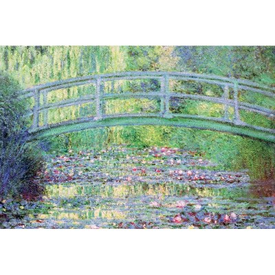 Puzzle-Michele-Wilson-K910-24 Puzzle aus handgefertigten Holzteilen - Claude Monet - Die japanische Brücke