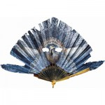 Puzzle-Michele-Wilson-P128-150 Puzzle aus handgefertigten Holzteilen - Fächer: Blauer Vogel