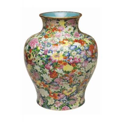 Puzzle-Michele-Wilson-P130-250 Puzzle aus handgefertigten Holzteilen - Chinesische Kunst: Mille Fleur-Vase