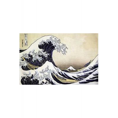 Puzzle-Michele-Wilson-P943-80 Puzzle aus handgefertigten Holzteilen - Hokusai: Die Welle