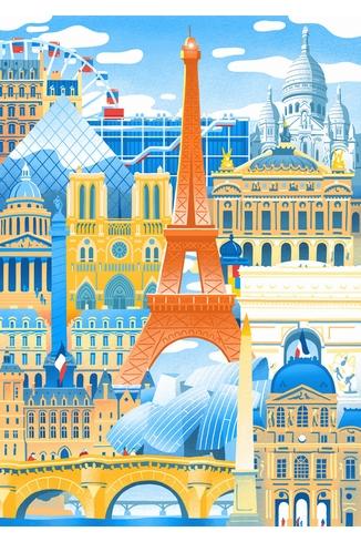 Puzzle-Michele-Wilson-W059-50 Puzzle aus handgefertigten Holzteilen - Vincent Mahé: Paris