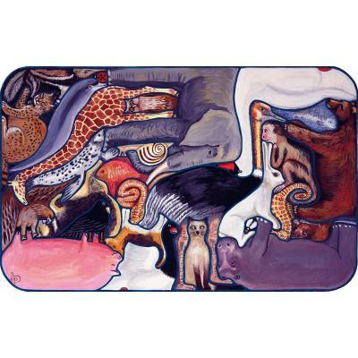 Puzzle-Michele-Wilson-W104-24 Puzzle aus handgefertigten Holzteilen - Dolbeau: Verrückte Tiere