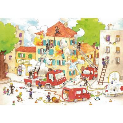 Puzzle-Michele-Wilson-W113-50 Puzzle aus handgefertigten Holzteilen - Cacouault: Die Feuerwehr