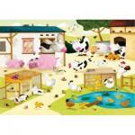 Puzzle-Michele-Wilson-W115-12 Puzzle aus handgefertigten Holzteilen - Huette: Der Bauernhof