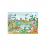 Puzzle-Michele-Wilson-W144-24 Puzzle aus handgefertigten Holzteilen - Cacouault: Dinosaurier