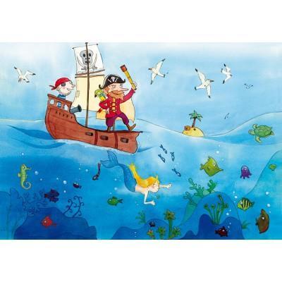 Puzzle-Michele-Wilson-W151-24 Puzzle aus handgefertigten Holzteilen - Vanvolsem: Die Piraten