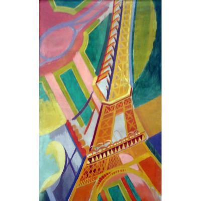 Puzzle-Michele-Wilson-W276-100 Puzzle aus handgefertigten Holzteilen - Delaunay: Eiffelturm
