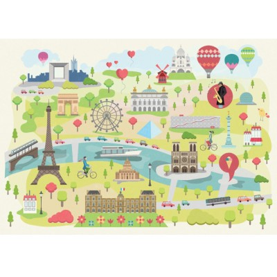 Puzzle-Michele-Wilson-W305-24 Puzzle aus handgefertigten Holzteilen - Magda: Paris illustriert