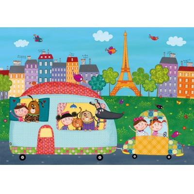 Puzzle-Michele-Wilson-W400-12 Holzpuzzle - Hallo, Paris.