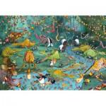 Puzzle-Michele-Wilson-W445-100 Holzpuzzle - Ruyer: Verrückter Dschungel