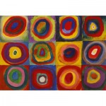 Puzzle-Michele-Wilson-W446-12 Puzzle aus handgefertigten Holzteilen - Kandinsky Vassily : Color Study
