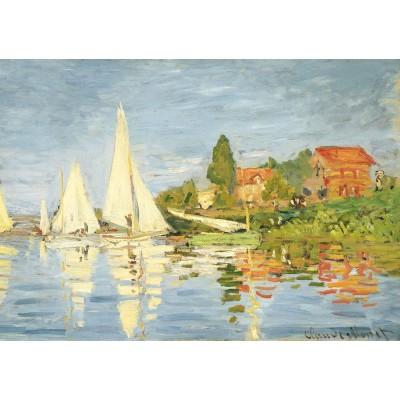 Puzzle-Michele-Wilson-W452-50 Puzzle aus handgefertigten Holzteilen - Monet: Regatta in Argenteuil