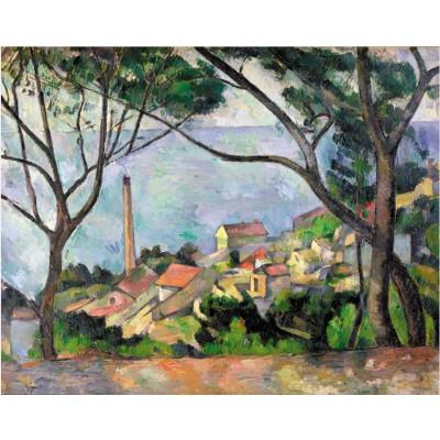 Puzzle-Michele-Wilson-W531-50 Puzzle aus handgefertigten Holzteilen - Paul Cézanne: Das Meer bei l'Estaque
