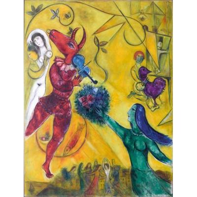 Puzzle-Michele-Wilson-W64-12 Puzzle aus handgefertigten Holzteilen - Marc Chagall - Der Tanz