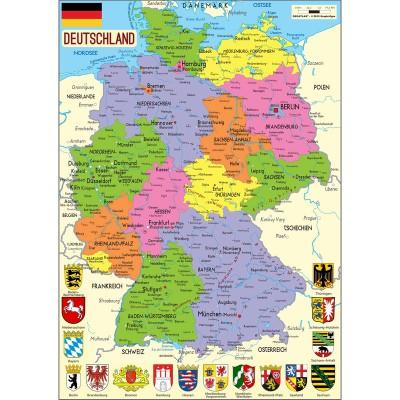 Puzzle-Michele-Wilson-W73-50 Puzzle aus handgefertigten Holzteilen - Deutschlandkarte