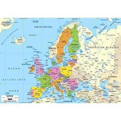 Puzzle-Michele-Wilson-W74-50 Puzzle aus handgefertigten Holzteilen - Europakarte
