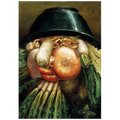 Puzzle-Michele-Wilson-W97-12 Holzpuzzle - Arcimboldo Giuseppe: Der Gemüsegärtner