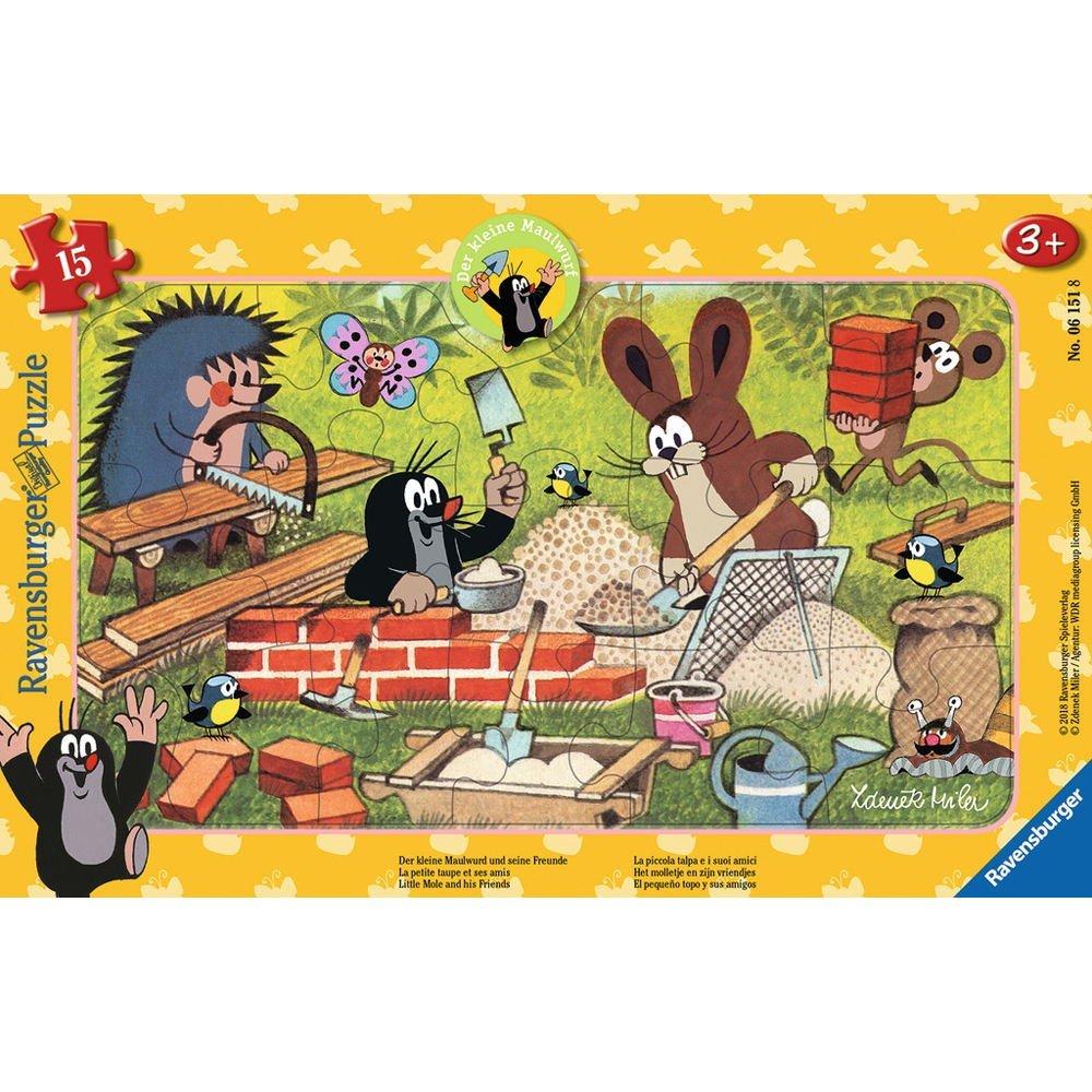Rahmenpuzzle - Der Maulwurf Ravensburger-06151 15 Teile Puzzle Tiere ...