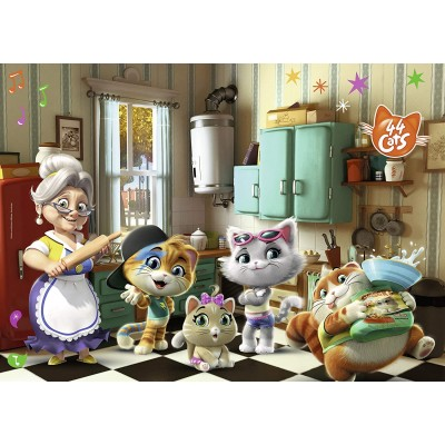 Ravensburger-03004 Giant Floor Puzzle - 44 Cats