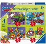 Ravensburger-03053 4 Puzzles - Super Zings