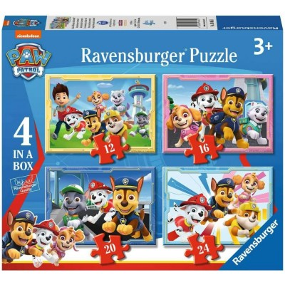 Ravensburger-03065 4 Puzzles - Paw Patrol