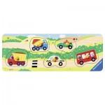 Ravensburger-03236 Holzpuzzle - Allererste Fahrzeuge