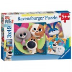Ravensburger-05014 XXL Teile - 3 Puzzles - The Secret Life of Pets 2