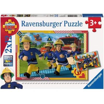 Ravensburger-05015 2 Puzzles - Fireman Sam
