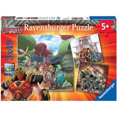 Ravensburger-05016 3 Puzzles - Gormiti