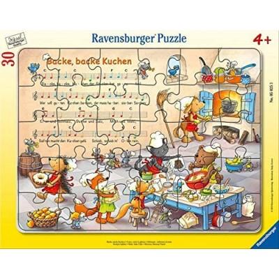 Ravensburger-05025 Rahmenpuzzle - Backe, Backe Kuchen