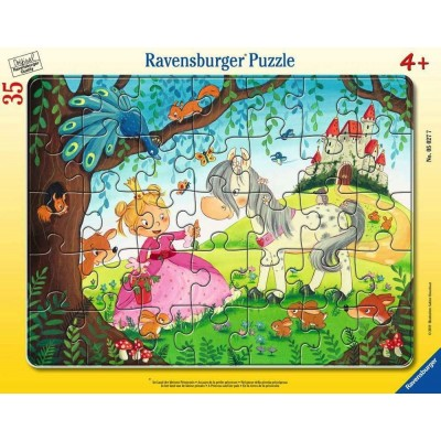 Ravensburger-05027 Rahmenpuzzle - Land der kleinen Prinzessin