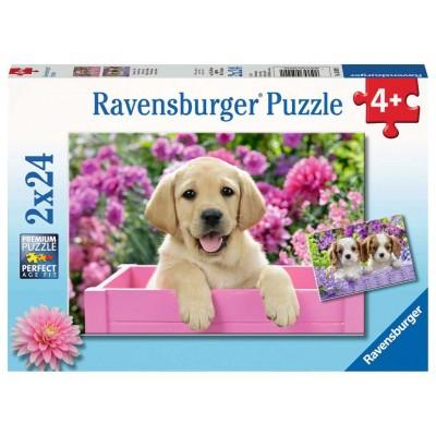 Ravensburger-05029 2 Puzzles - Süße Freunde