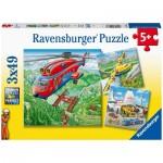 Ravensburger-05033 3 Puzzles - Über den Wolken