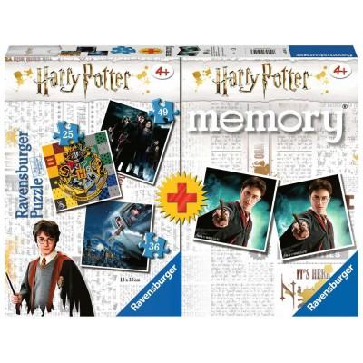 Ravensburger-05054 3 Puzzles + Memory - Harry Potter