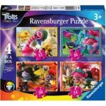 Ravensburger-05059 4 Puzzles - Trolls