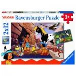 Ravensburger-05069 2 Puzzles - Yakari