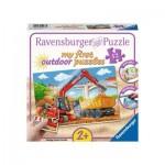 Ravensburger-05073 My First outdoor Puzzles - Meine Baustelle