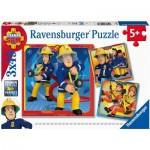Ravensburger-05077 3 Puzzles - Fireman Sam
