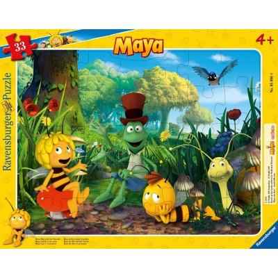 Ravensburger-05086 Rahmenpuzzle - Die Biene Maja