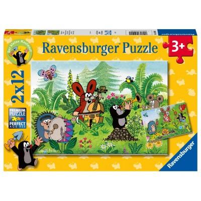 Ravensburger-05090 2 Puzzles - Gartenparty mit Freunden