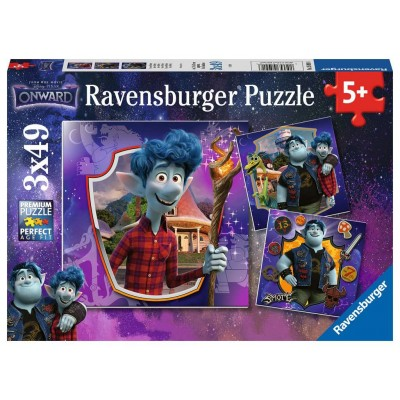 Ravensburger-05091 3 Puzzles - Disney Pixar - Onward