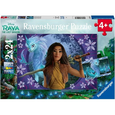 Ravensburger-05097 2 Puzzles - Raya
